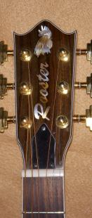 Tim includes the Rooster inlay on many of his guitars. His shop is named the Rooster Run Workshop in Newark, DE.